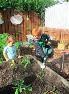 The children are back in the garden!