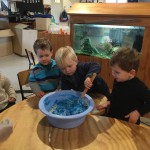 Play-dough mixture: stirring process